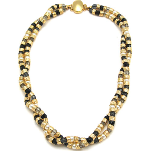 Multi Twist Necklace Black
