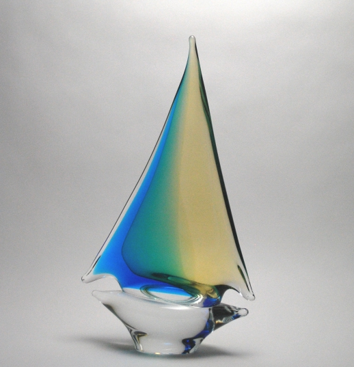 Oball Aqua/Amber Sailboat Medium