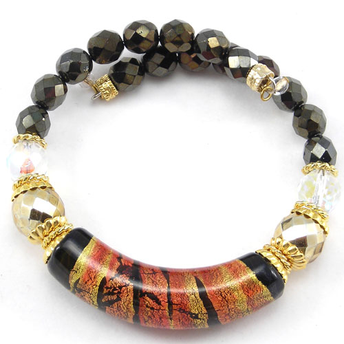Arkadia Murano Glass Bracelet Brown