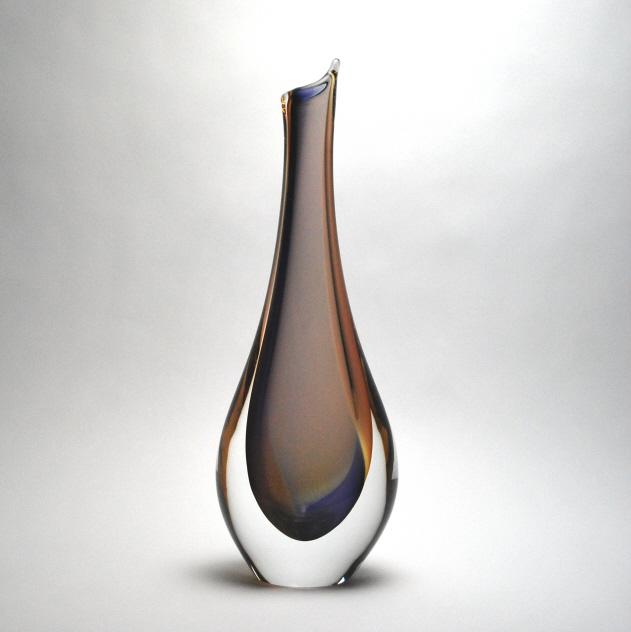 Murano Art Vase Lavenderorange Murano Glass Murano Glass Gifts Co