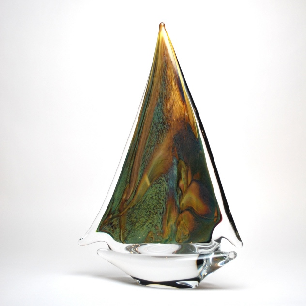 Murano Glass Calcedony Sailboat