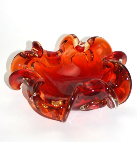 Murano Glass Ruby Red Bowl