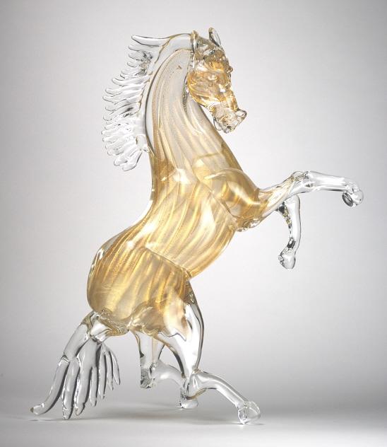 Murano Glass Golden Horse Murano Glass Murano Glass Gifts Co