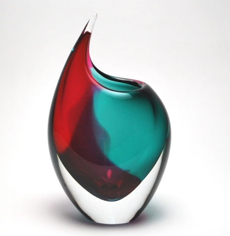 chromatic murano tuscan vase blue red murano glass. Black Bedroom Furniture Sets. Home Design Ideas
