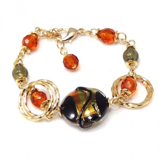 Murano Glass Bracelet Black