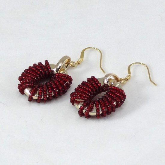 Murano Earrings Red