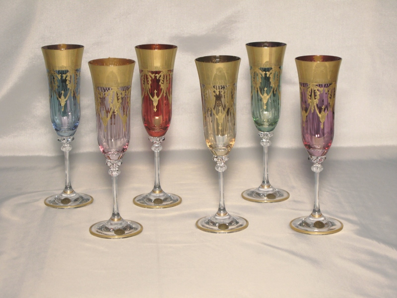 Venetian Medici Collection Champagne Goblets ( set of 6)