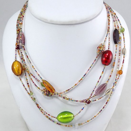 Cascade  Necklace Multi Color