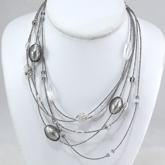 Cascade Necklace Silver