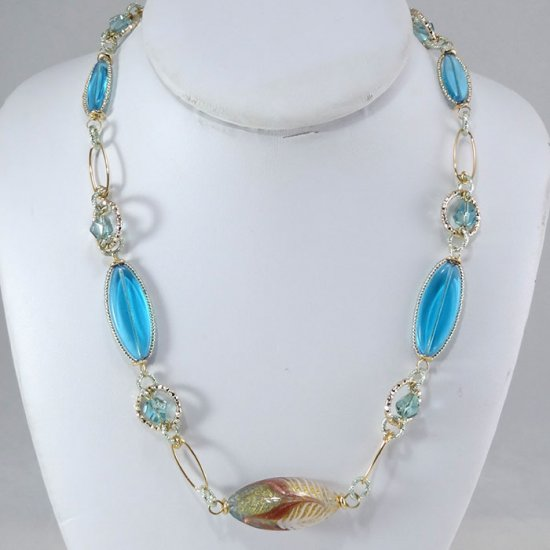 Mulinello Short Necklace Turquoise