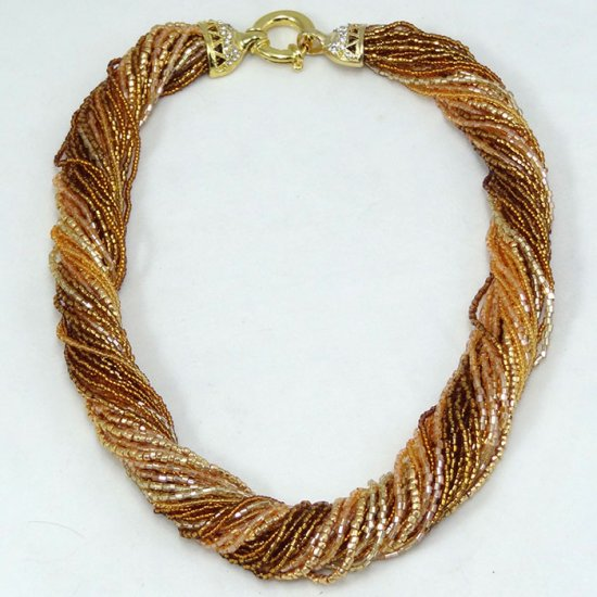 Ricciolo Diamond and Amber Necklace