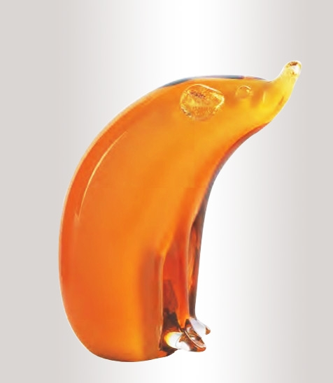 Murano Glass Amber/Gold Bear