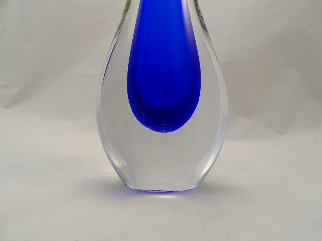 Murano Glass Blue Vase
