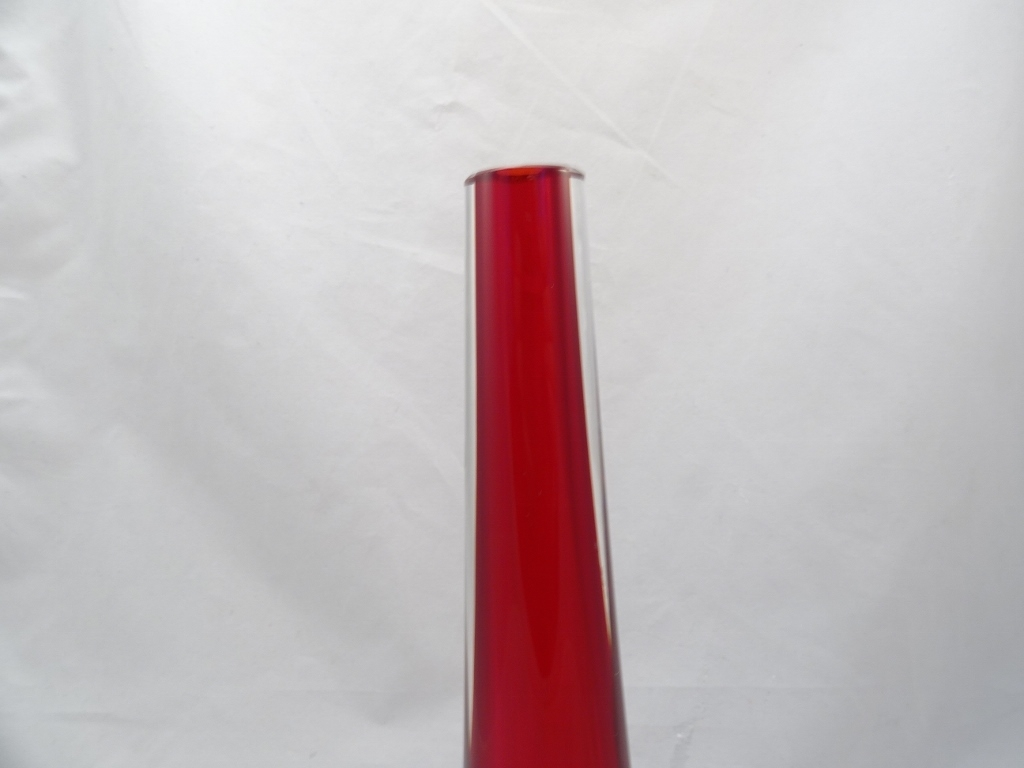 Murano Glass Red Vase