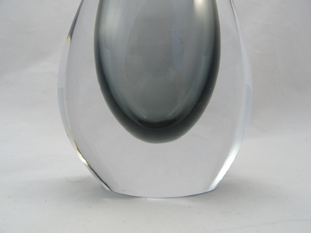 Smoky Murano Glass Gocce Vase