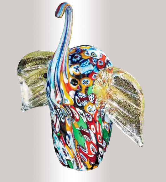 Murrine Glass Elephant