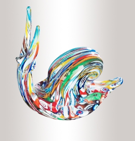 Murrine Glass Snail