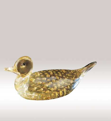 Murano Glass Gold Duck