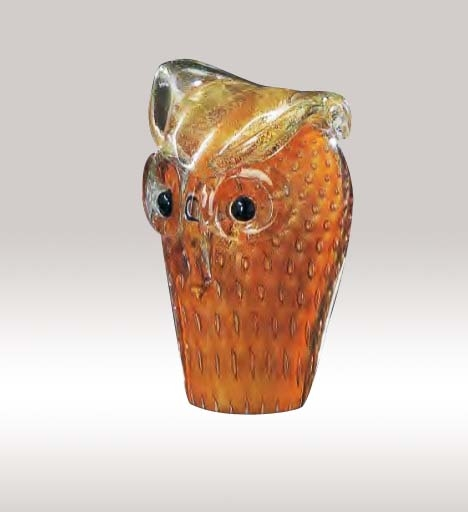 Murano Glass Owl Colorfull Assortment