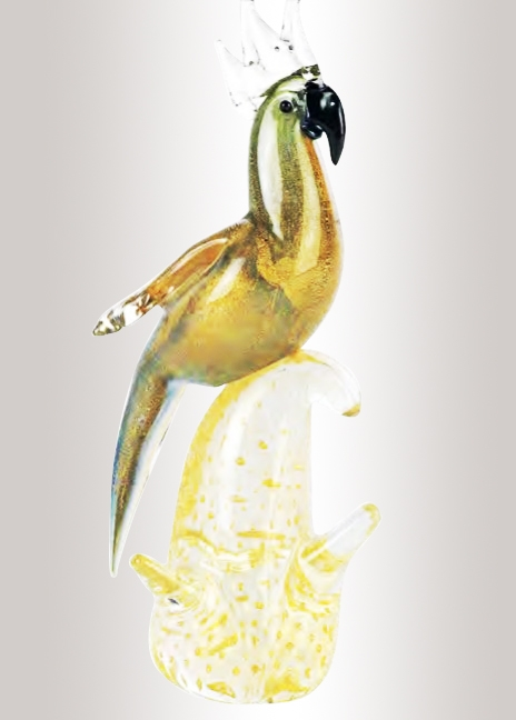 Murano Glass Parrot Multicolor/Gold