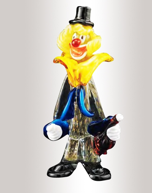 Murano Glass Clown With Bottle