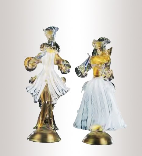 Murano Glass Couple Figurines Colorfull Assortment