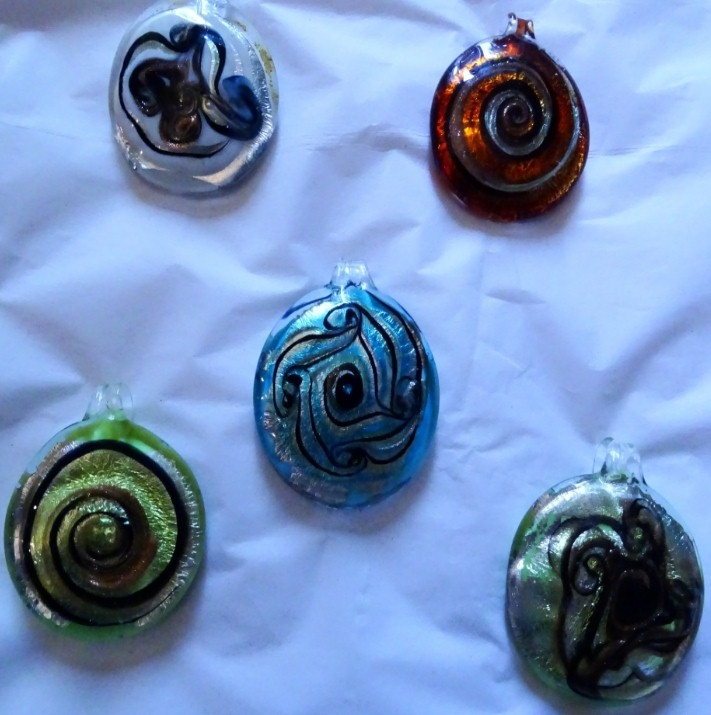 Murano Glass Designer's Pendants Colorful Assortment