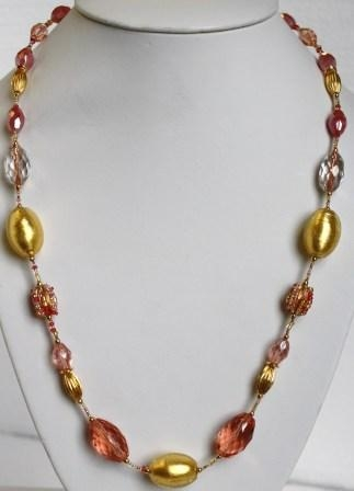 Glamor Coral Necklace (Long)