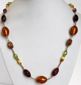 Glamor Multicolor Necklace (Long)