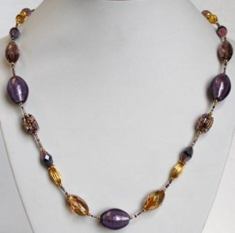 Glamor Purple Necklace (Long)