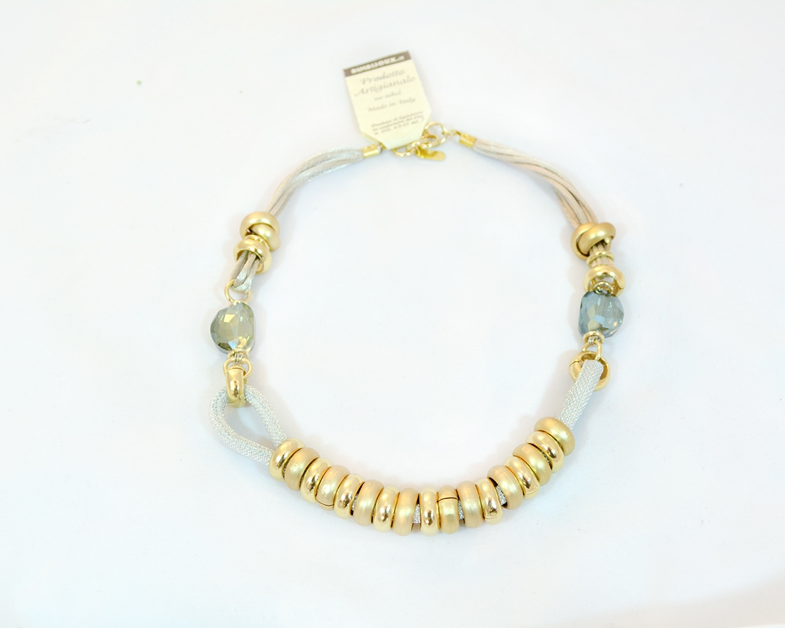 Anello Gold finish Ring Murano Glass Necklace