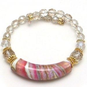 Arkadia Murano Gl Bracelet Pink