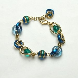Murano Glass Bracelet Blue