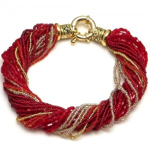 Murano Glass Bracelet Red