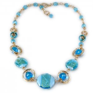 Light Blue  Murano Glass Necklace