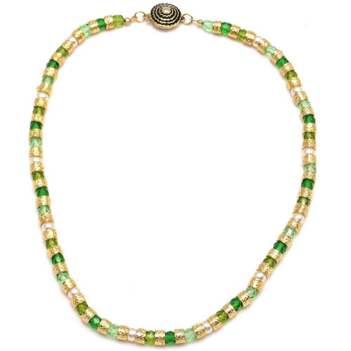 Murano Glass Classic Necklace Green