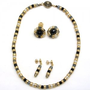 Murano Glass Classic Necklace Black
