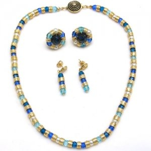 Murano Glass Classic Necklace Blue