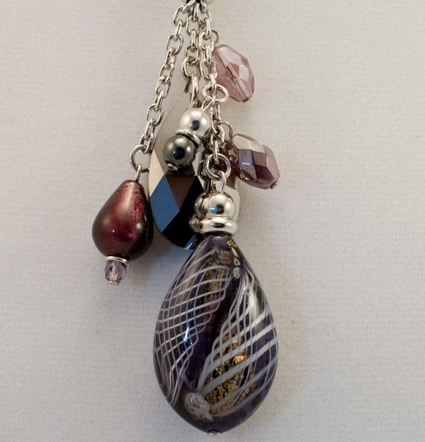 Murano Glass  Necklace Amethyst