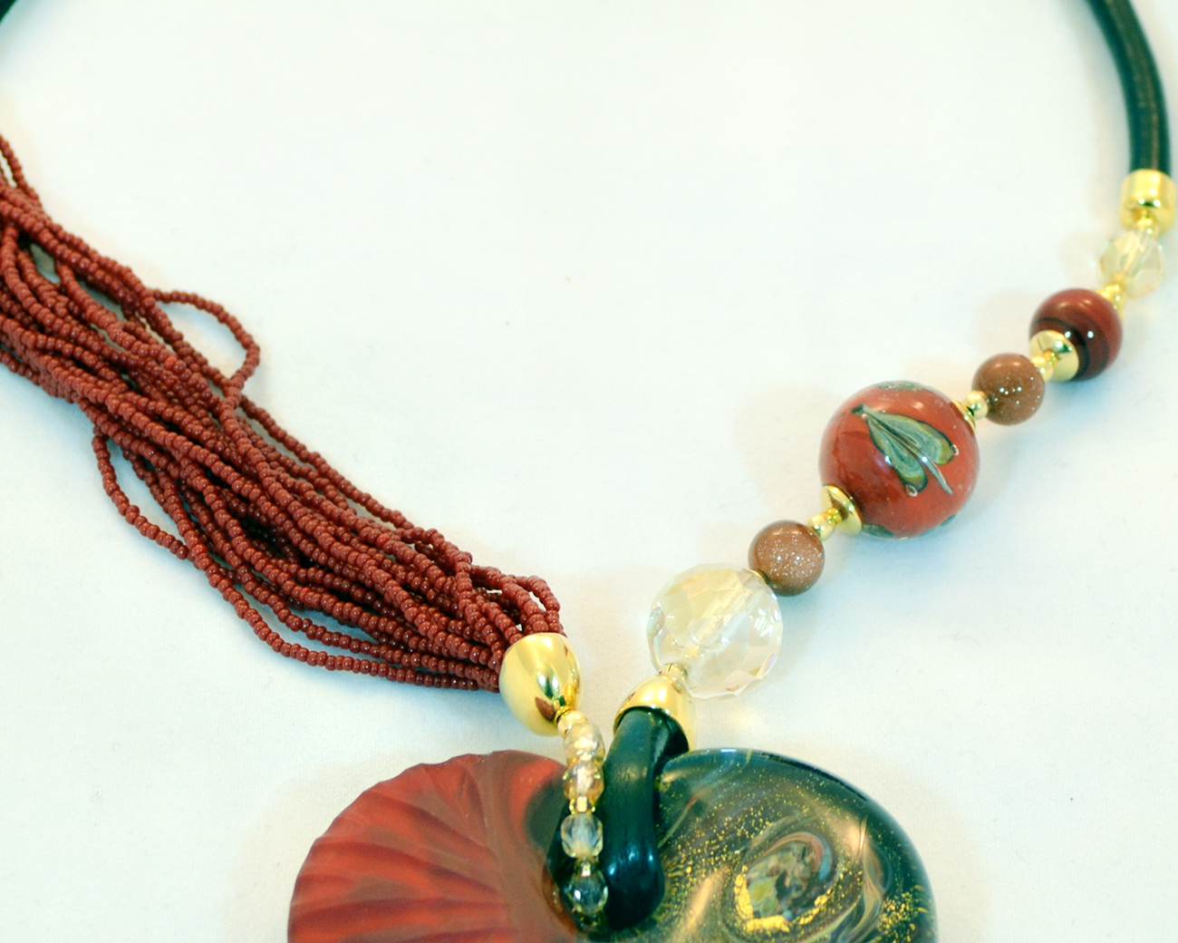 Red and gold murano intaglio glass heart necklace murano glass red and gold murano intaglio glass heart necklace mozeypictures Image collections