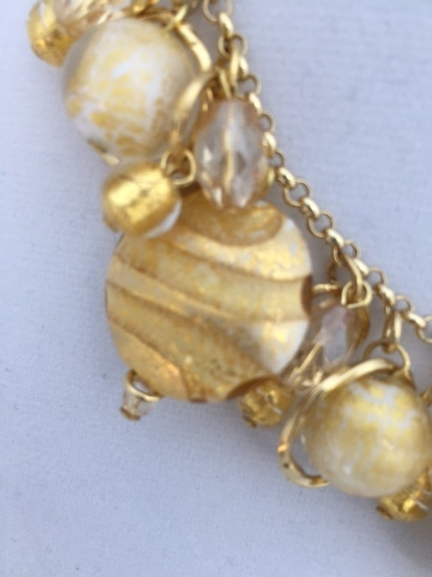 Vintage Charm Necklace Marble White