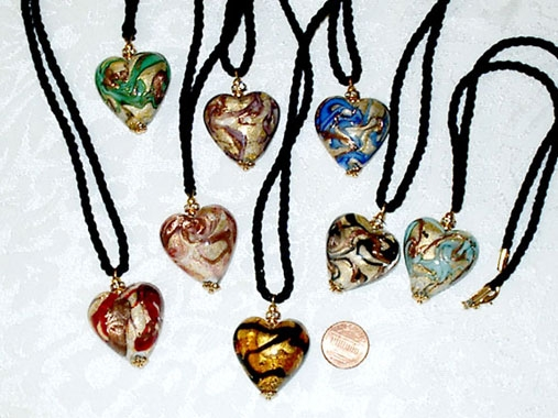 Colorful assortment Heart Pendant