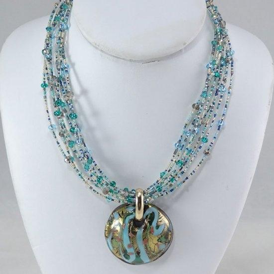 glass pendant necklace Murano