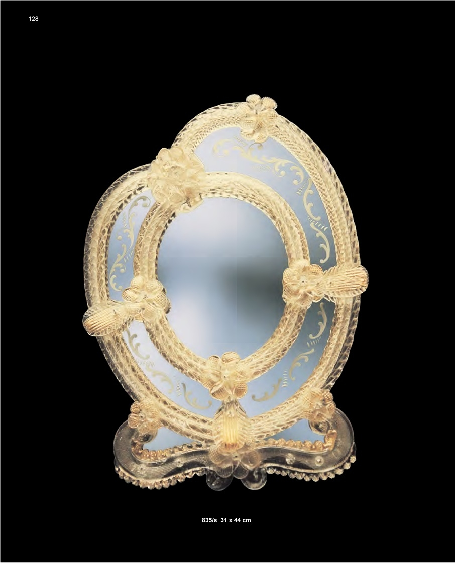 Murano Glass Table Mirror