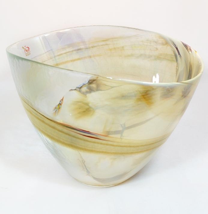 Belus Crystal Milky Murano Glass Bowl Murano Glass Murano Glass