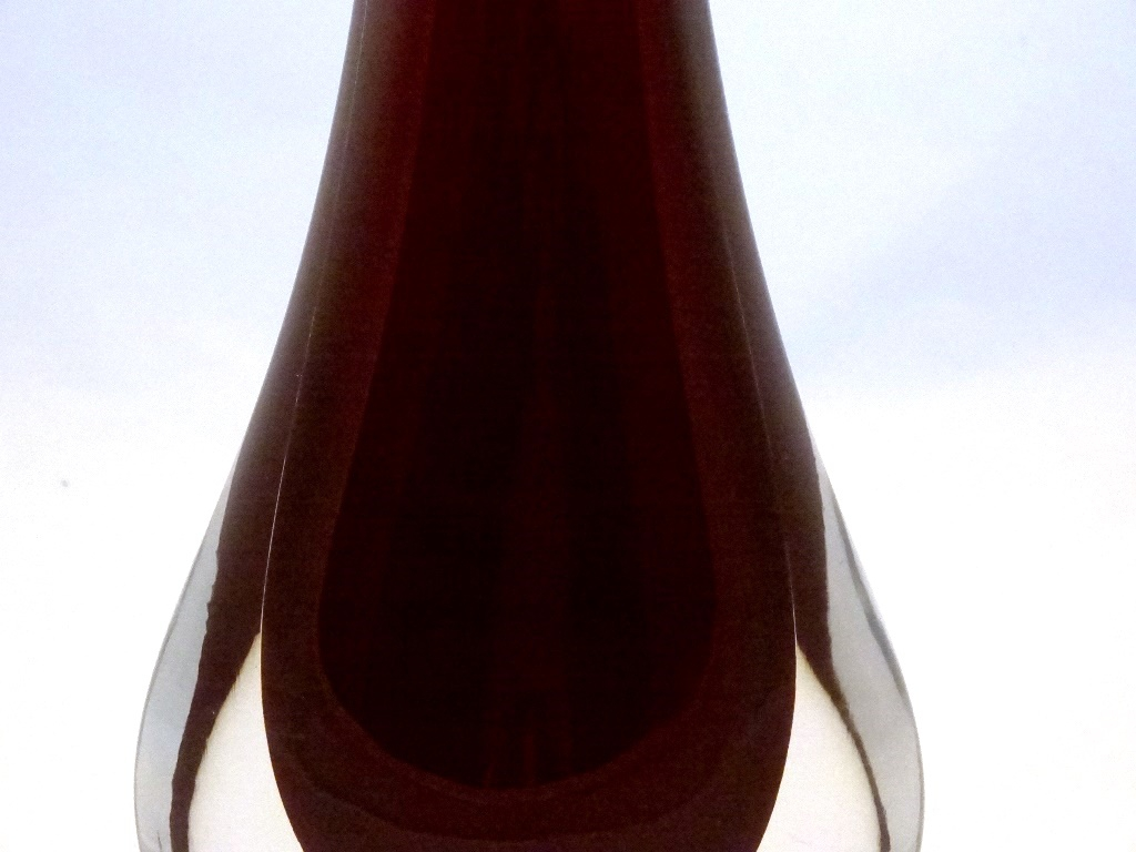 Murano Glass Burgundy Gocce Vase