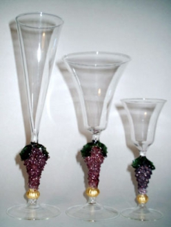 Goblets Mounted on Grapes