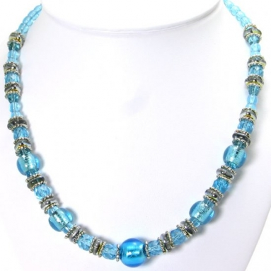 Murano Glass Necklace Blue