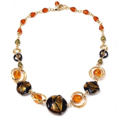 Murano Glass Necklace BLACK