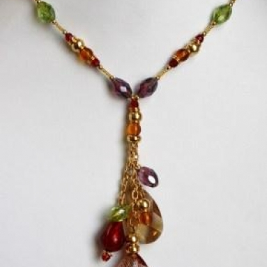 Murano Glass Necklace Multi